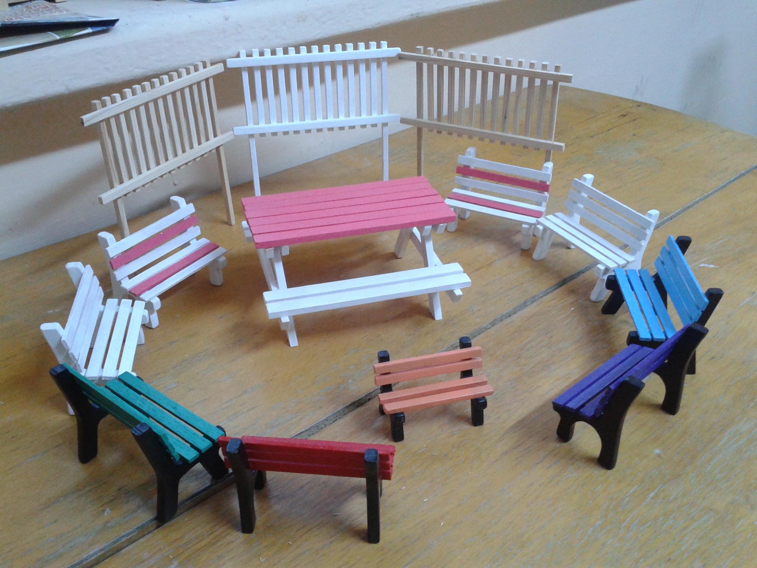 Minyatür Hobi Bahçesi Aksesuarlari El Yapımı Minyatür Ahşap Eşyalar